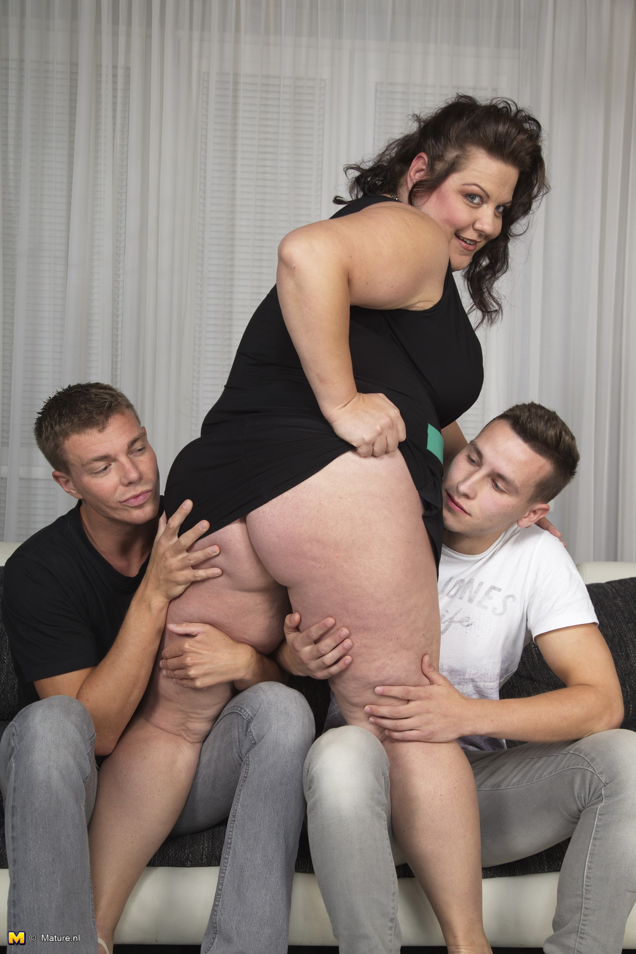 Homemade Threesome Two Guys