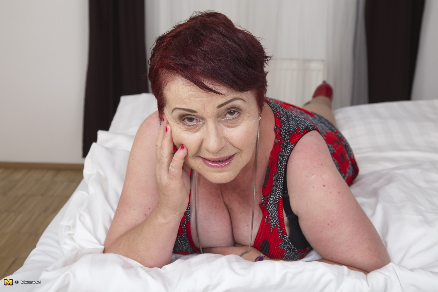 This super-naughty furry grandmother gets it in POV style