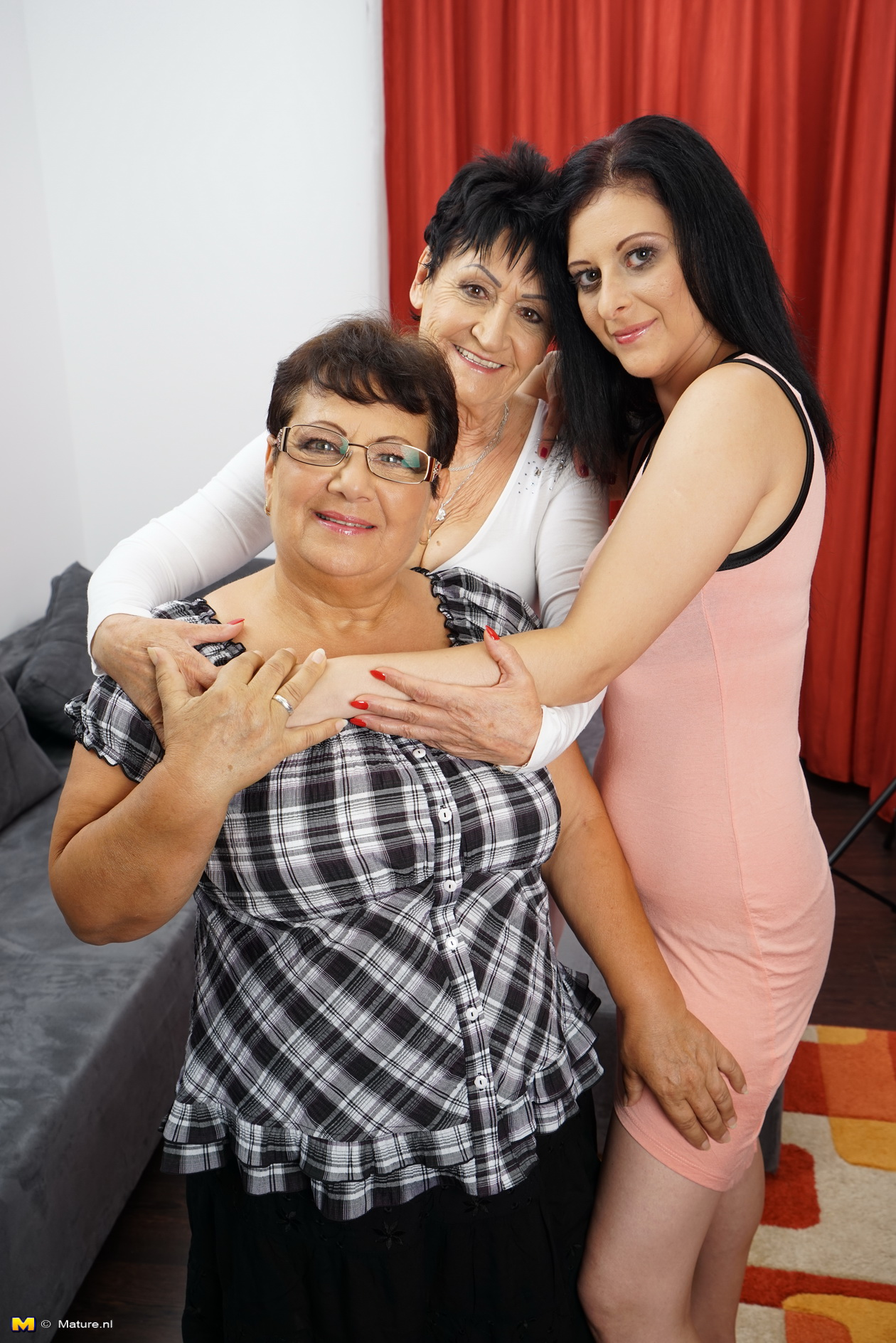 Three kinky housewives having joy together