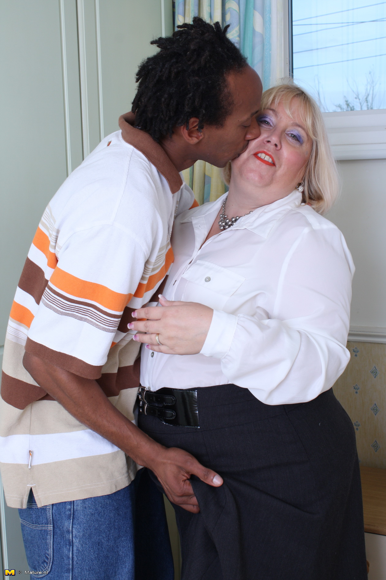 Insatiable Brit PLUMPER fooling around with a binding dark-hued dude